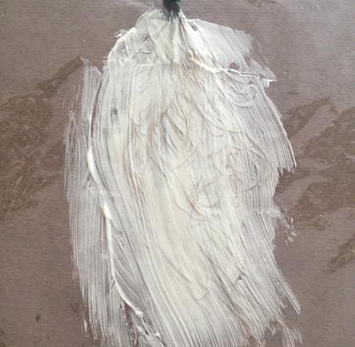 黒染めを塗布した毛束