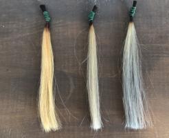 カラーシャンプーした毛束